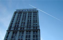 Contrail Over Chicago