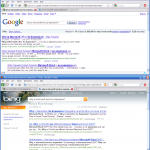 Comparing Bing search to Google