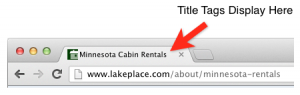 Title Tags Display in Browser Tabs