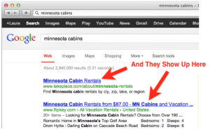 Title Tags are headlines in search results pages