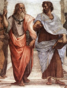 Plato: I ALWAYS use parallax scrolling Aristotle: You're such a nube
