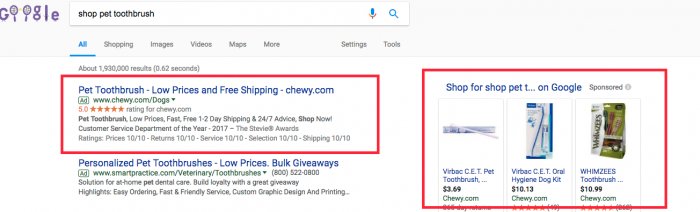 Search Results Page Highlighted Ads
